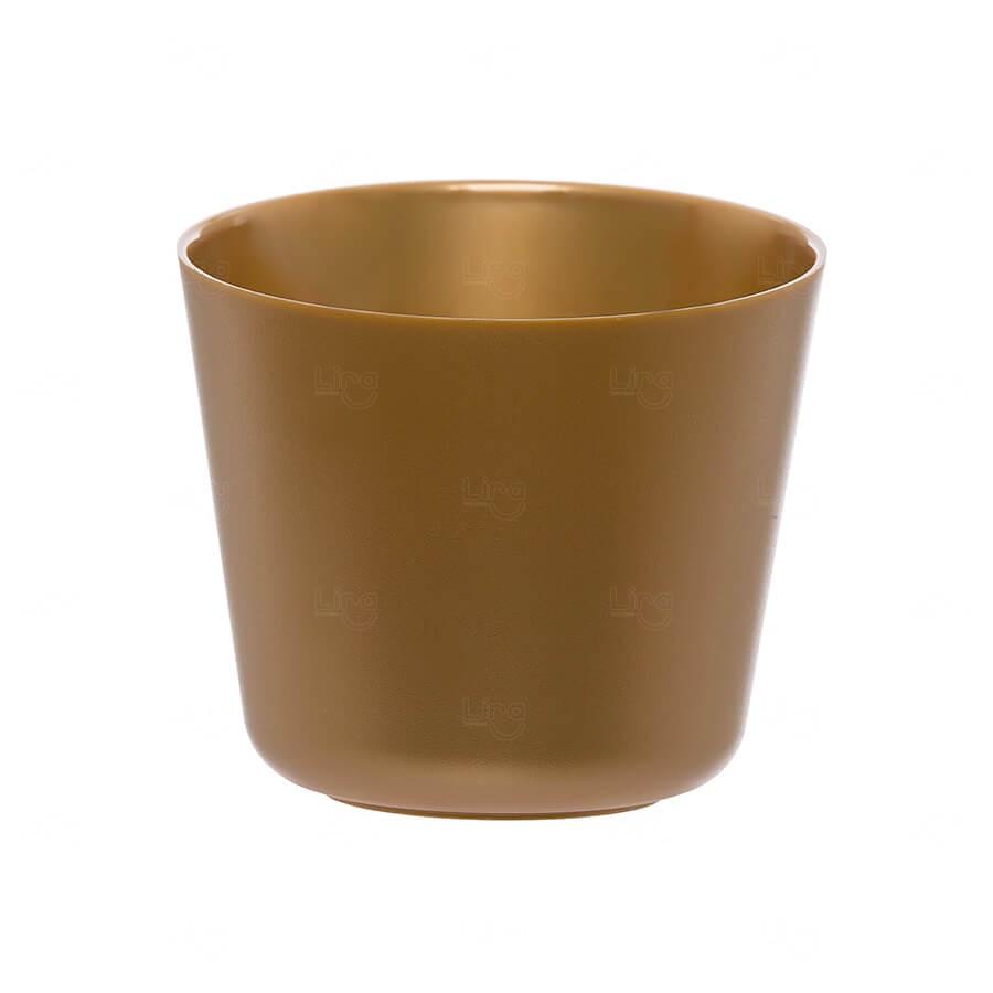 Mini Balde De Gelo Personalizado - 2 L (Leitoso ou Cristal) Dourado