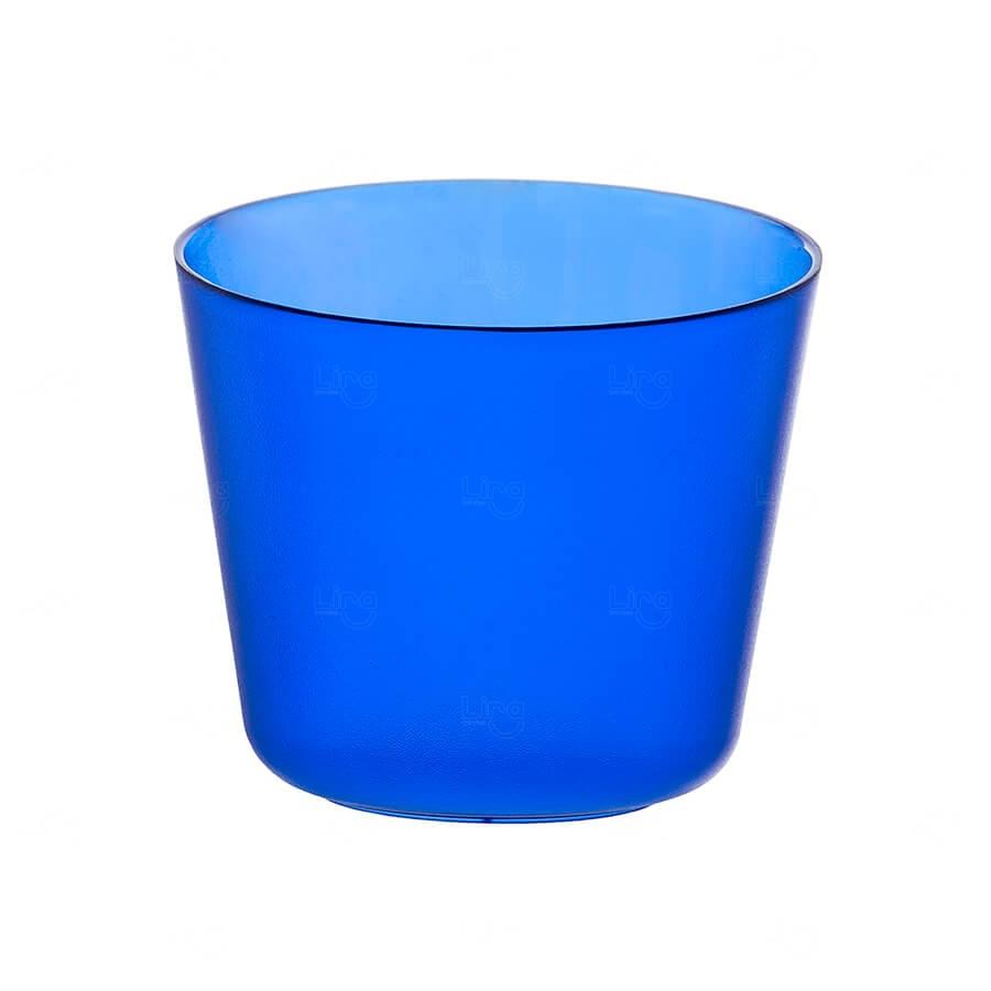 Mini Balde De Gelo Personalizado - 2 L (Leitoso ou Cristal) Azul