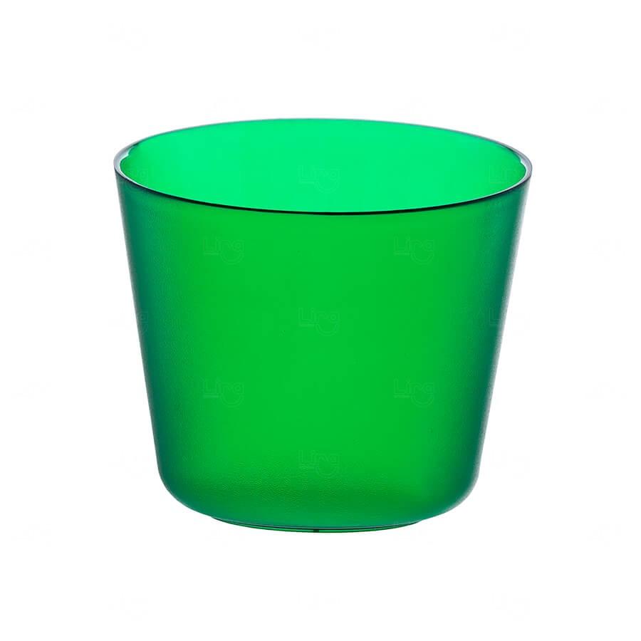 Mini Balde De Gelo Personalizado - 2 L (Leitoso ou Cristal) Verde
