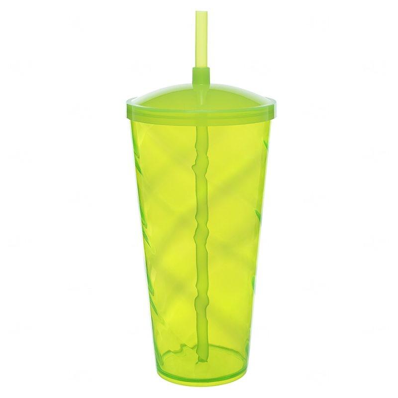 Copão C/ Canudo Personalizado - 1 L (Leitoso ou Cristal) Verde