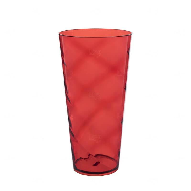 Copão Personalizado - 1 L (Leitoso ou Cristal) Vermelho