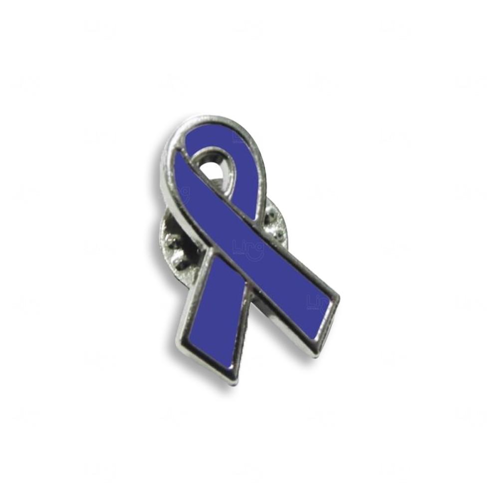 Pin Acrílico Padrão Personalizado Azul