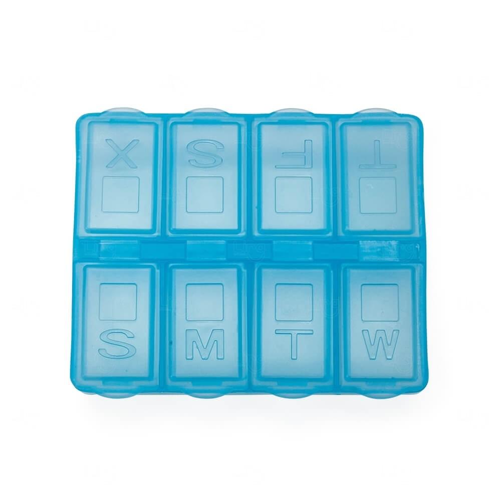 Porta Comprimido Semanal Personalizado Azul