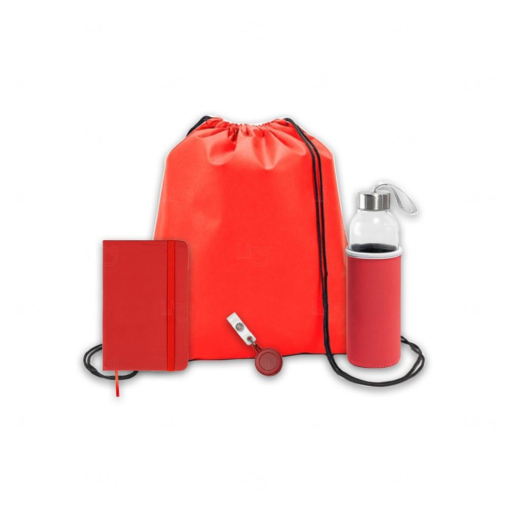 Kit Welcome Back Personalizado - 4 Peças Vermelho