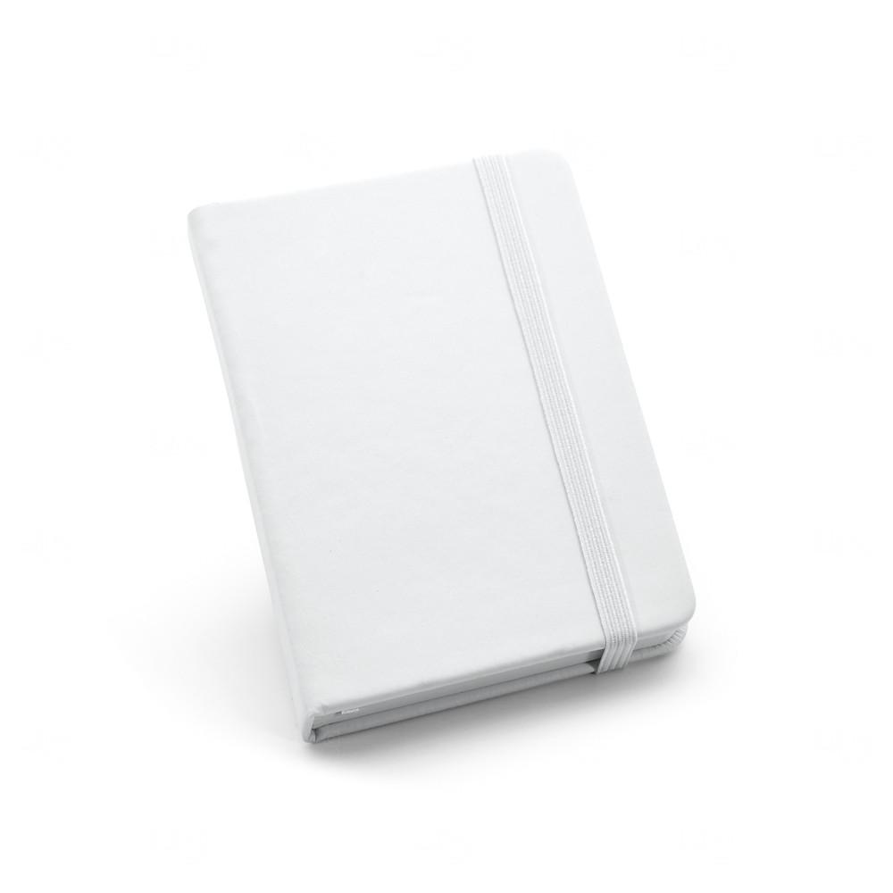 Caderneta Couro Tipo Moleskine Personalizada Branco
