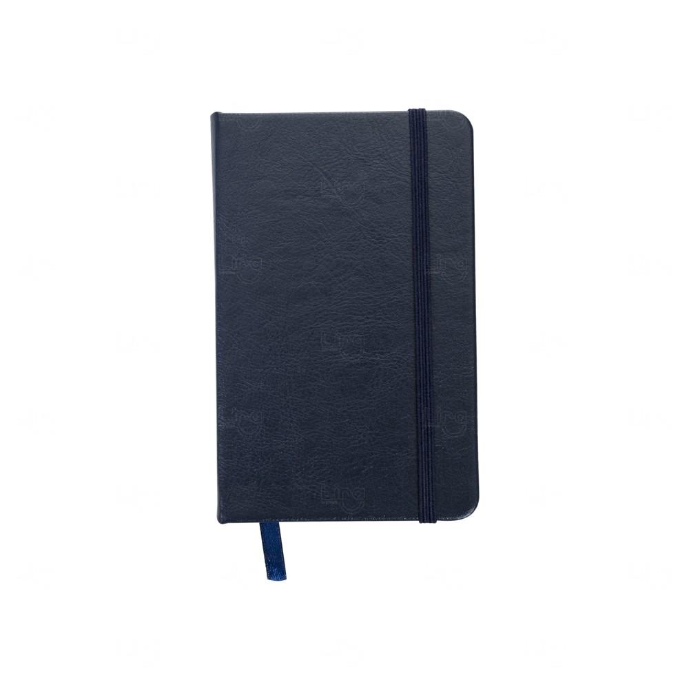 Caderneta Tipo Moleskine Personalizada Azul