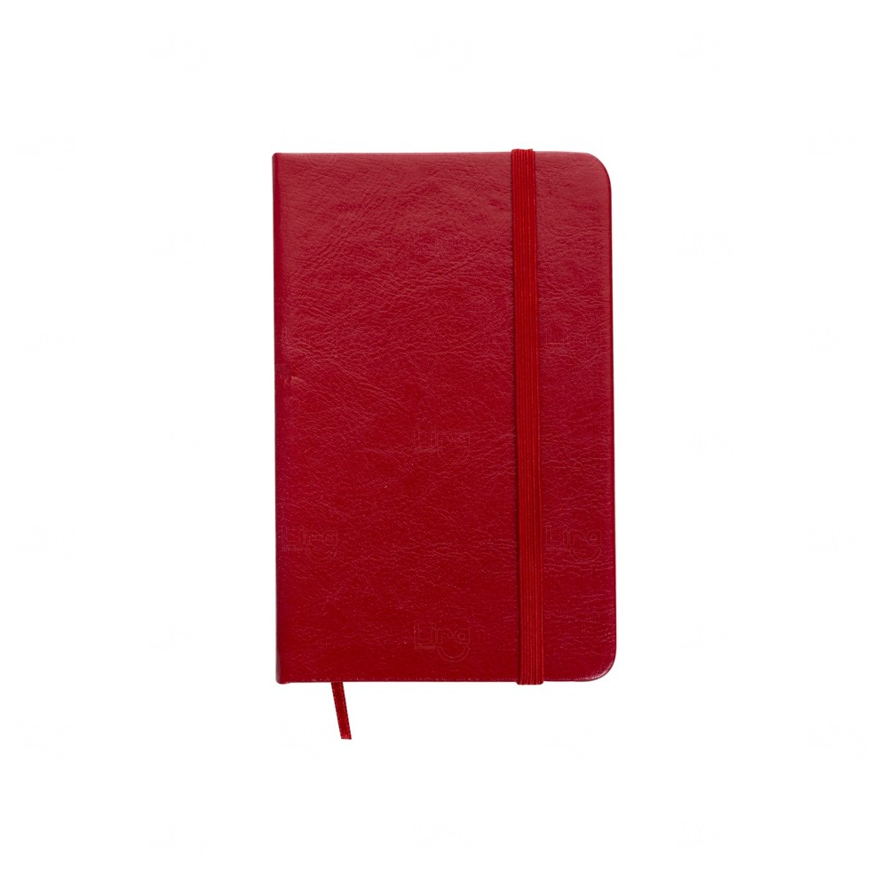 Caderneta Tipo Moleskine Personalizada Vermelho