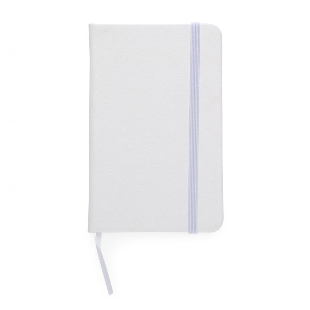 Caderneta Tipo Moleskine Personalizada Branco