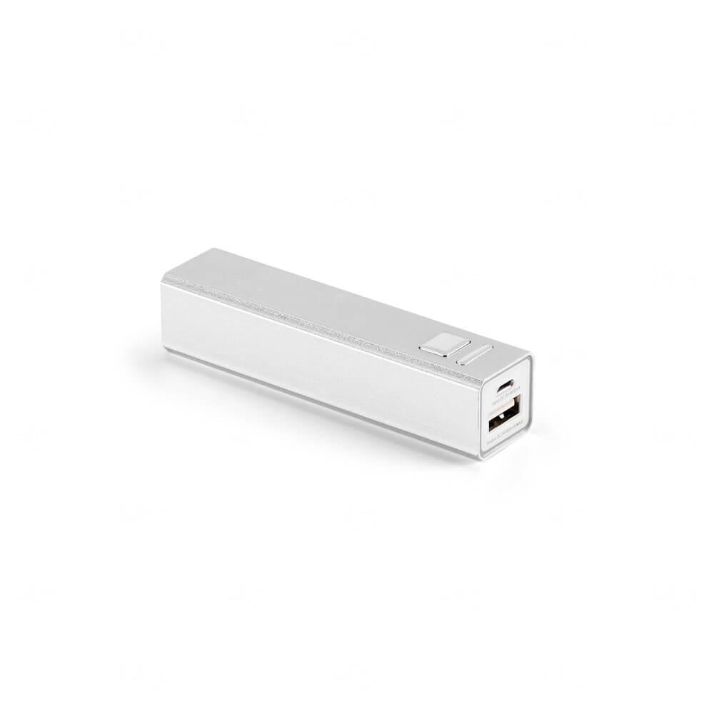 Bateria Portátil Personalizado - 1.800 mAh Cromado