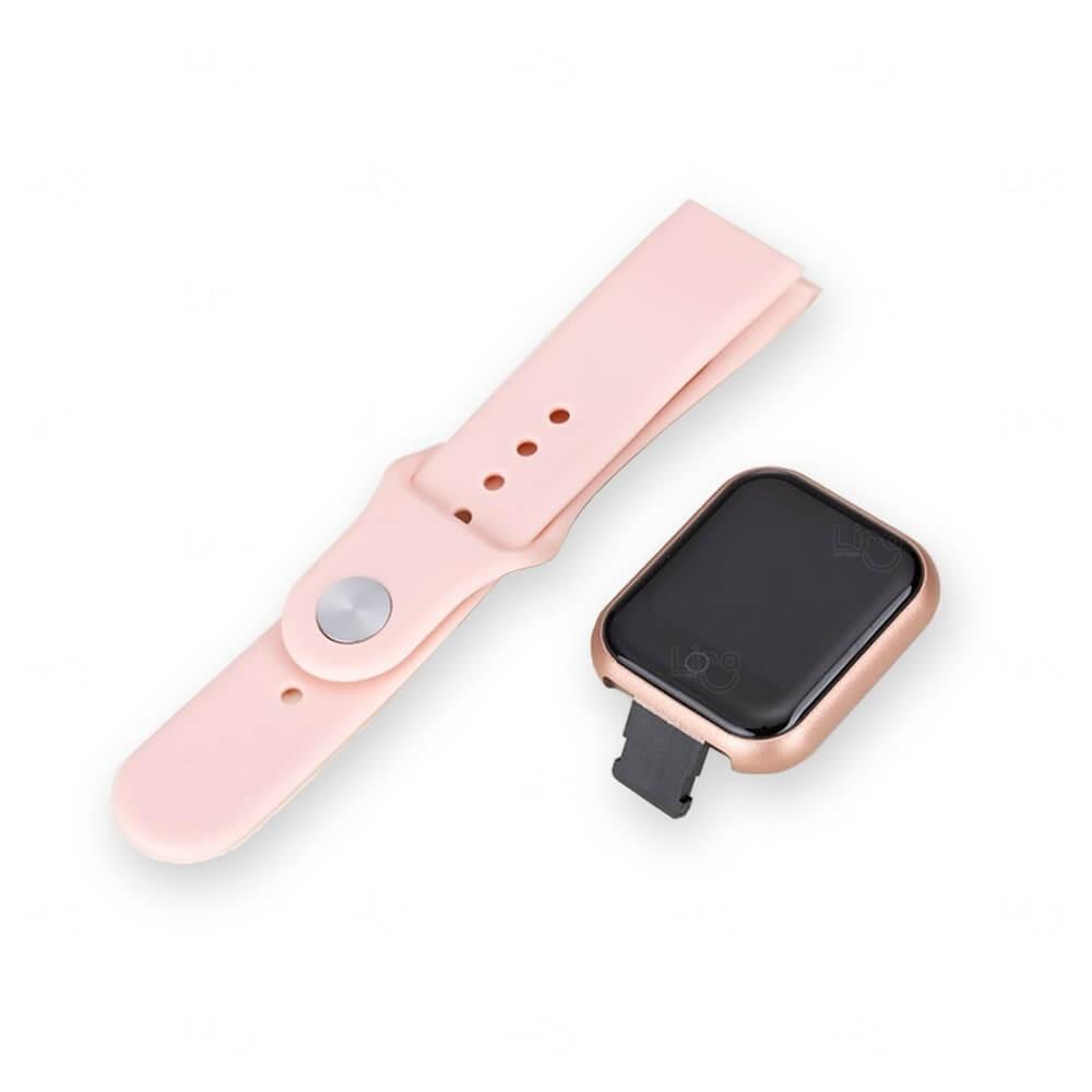 Relógio Smartwatch D20 Personalizado Rosa