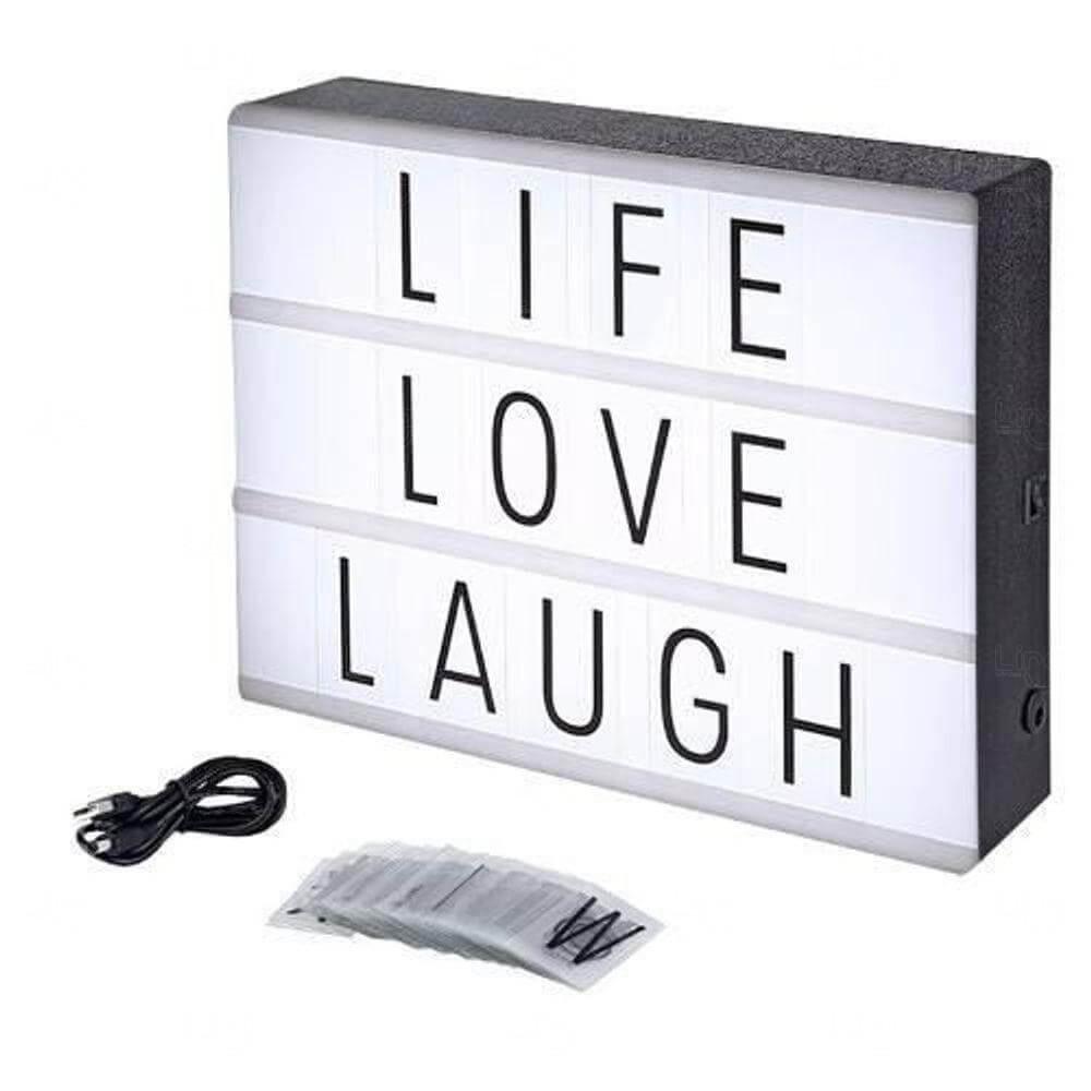Luminária Led Lightbox A4 Personalizada