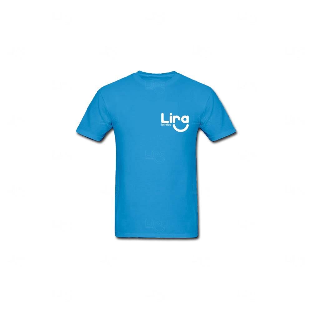 Camiseta Poliéster Personalizada Azul