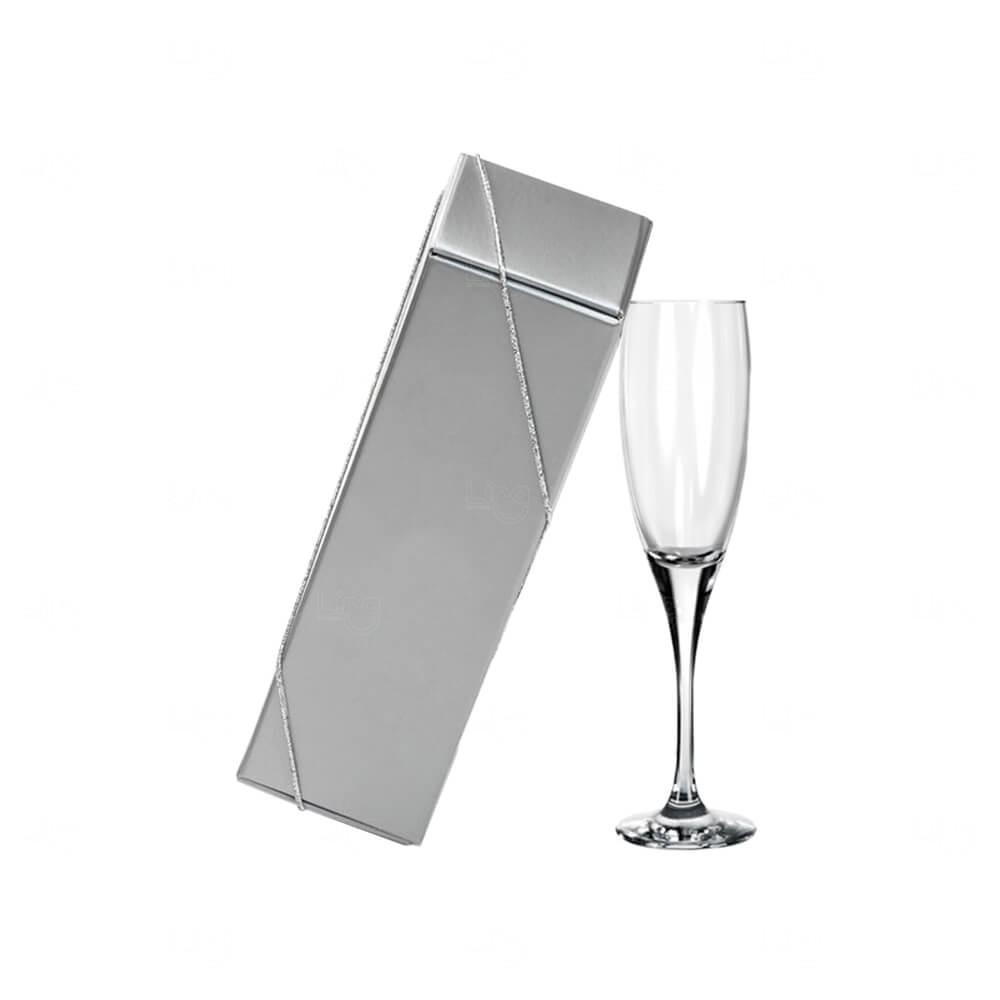 Kit Taça Champanhe de Vidro Personalizada - 190ml