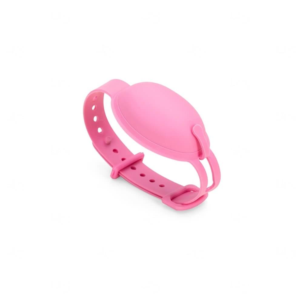 Pulseira Dispenser Álcool Gel Personalizada -  8ml Rosa Flamingo