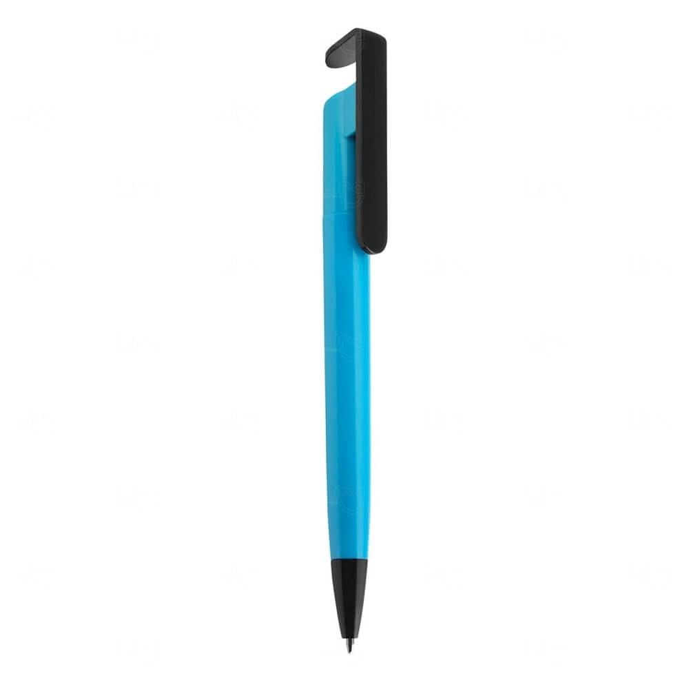 Caneta Plástica Personalizada Azul Claro