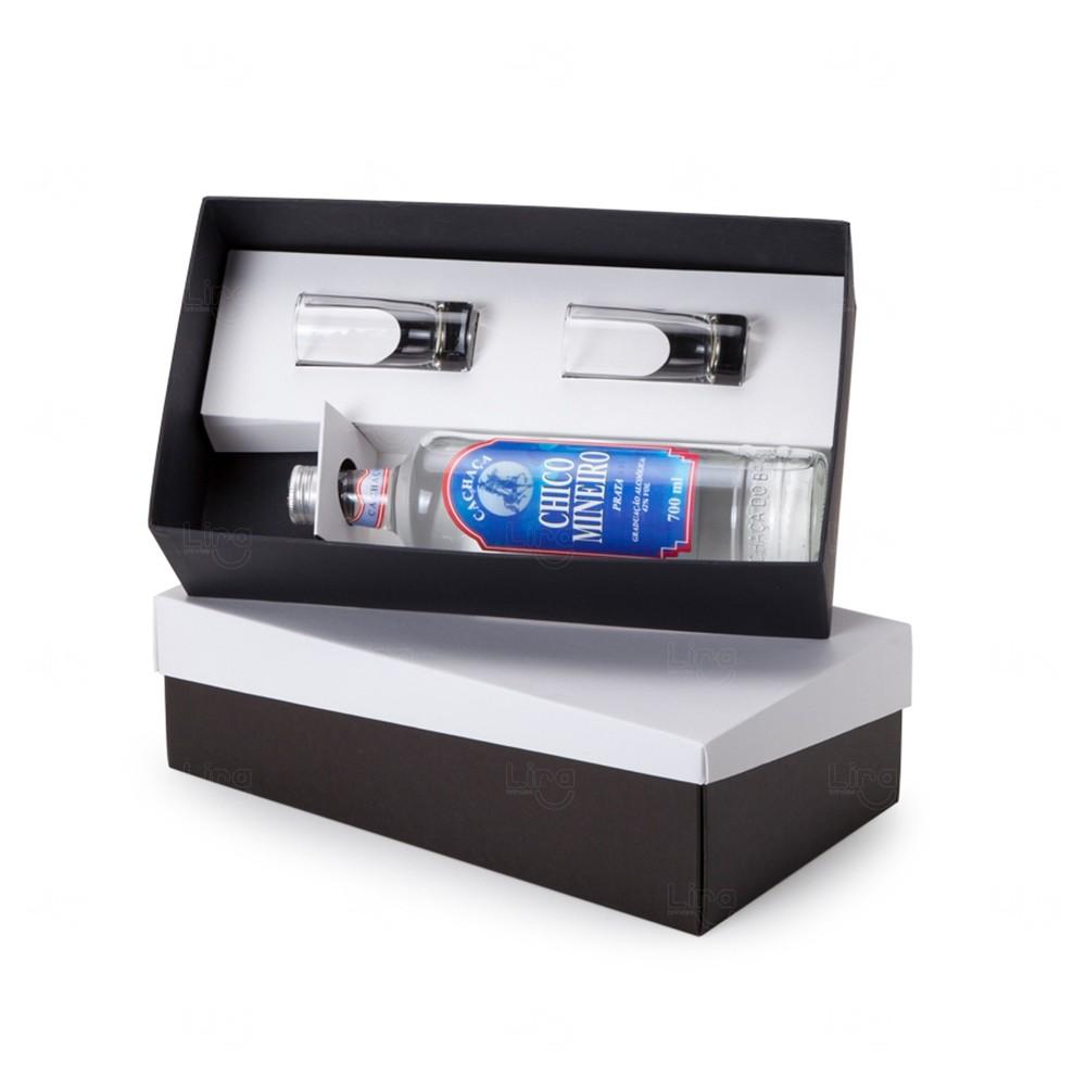 Kit Cachaça Personalizado - 3 Peças Branco
