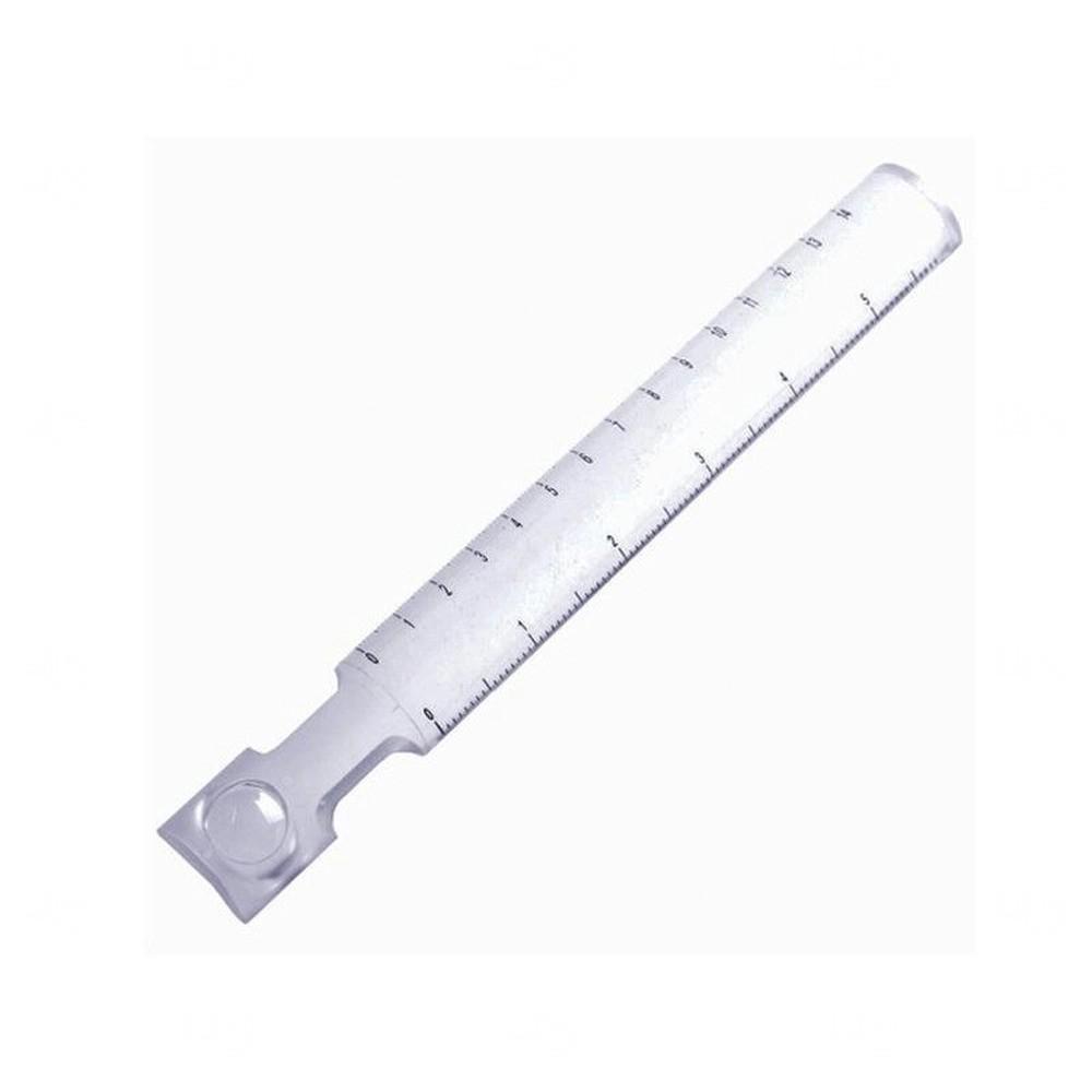 Régua Acrílica com Lupa - 14cm