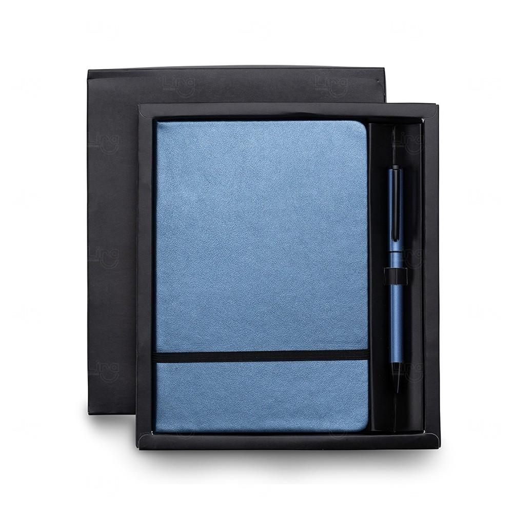 Kit Executivo Personalizado - 2 Peças Azul Claro