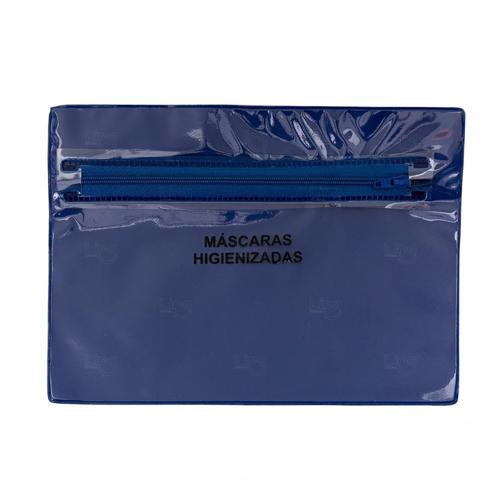 Porta Máscara Personalizada - 16,3 cm x 22,7 cm Azul