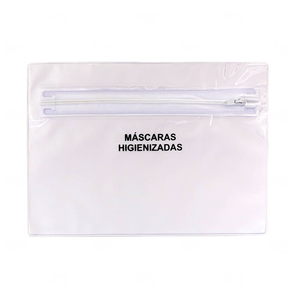 Porta Máscara Personalizada - 16,3 cm x 22,7 cm Branco
