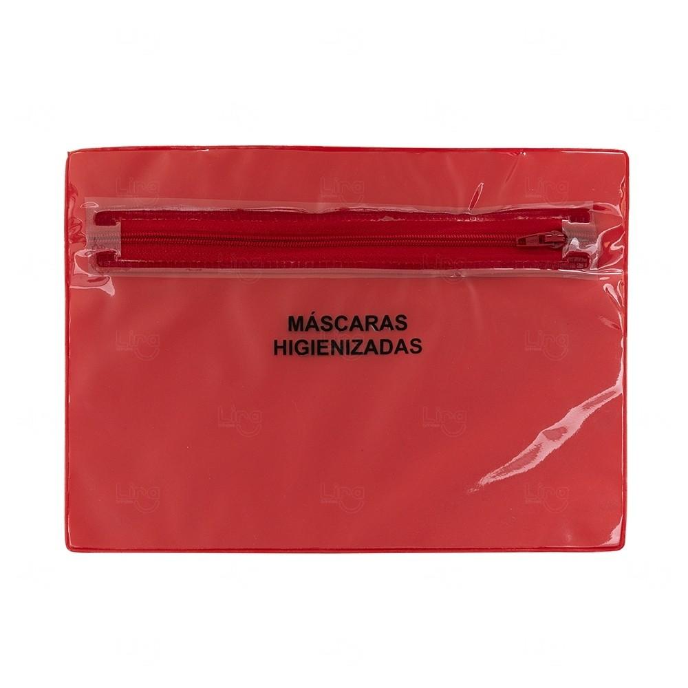 Porta Máscara Personalizada - 16,3 cm x 22,7 cm Vermelho