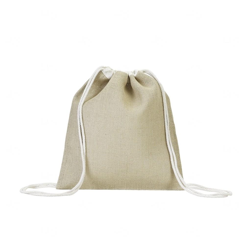 Sacochila de Juta  Personalizado - 40x37,5 cm Natural