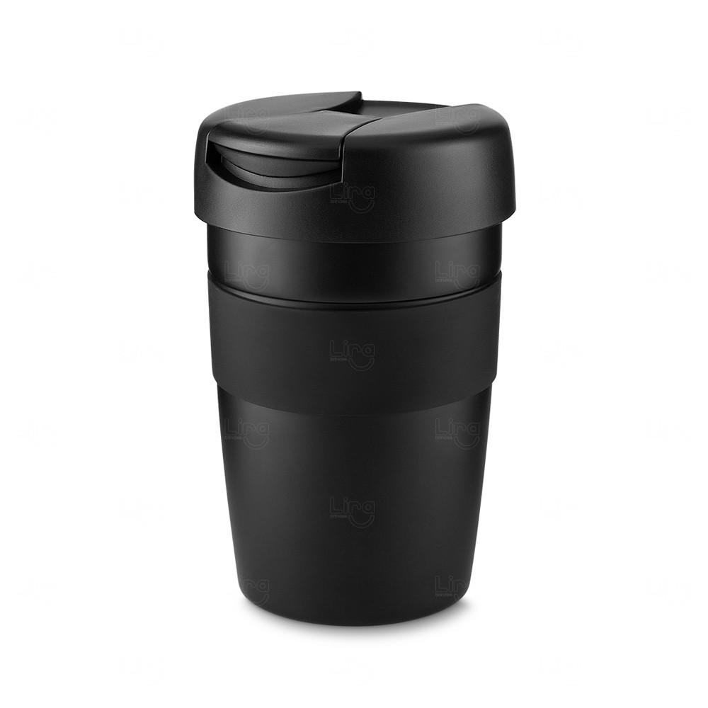 Caneca Inox Personalizada - 350 ml Preto