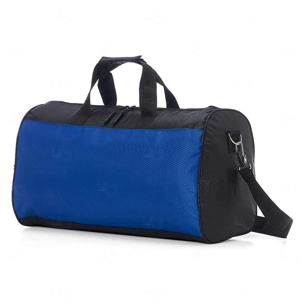 Bolsa de Viagem em Poliéster  Personalizado Azul