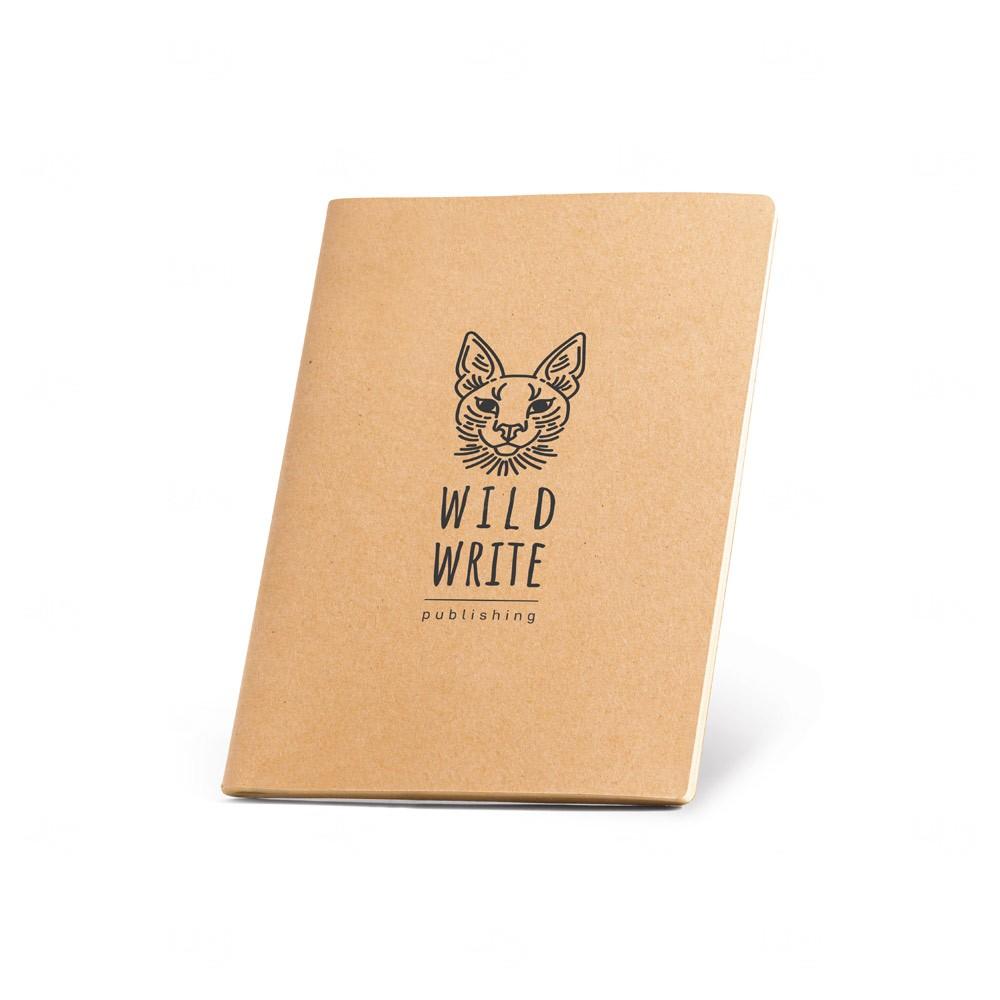 Caderno personalizado A6 sustentável Natural