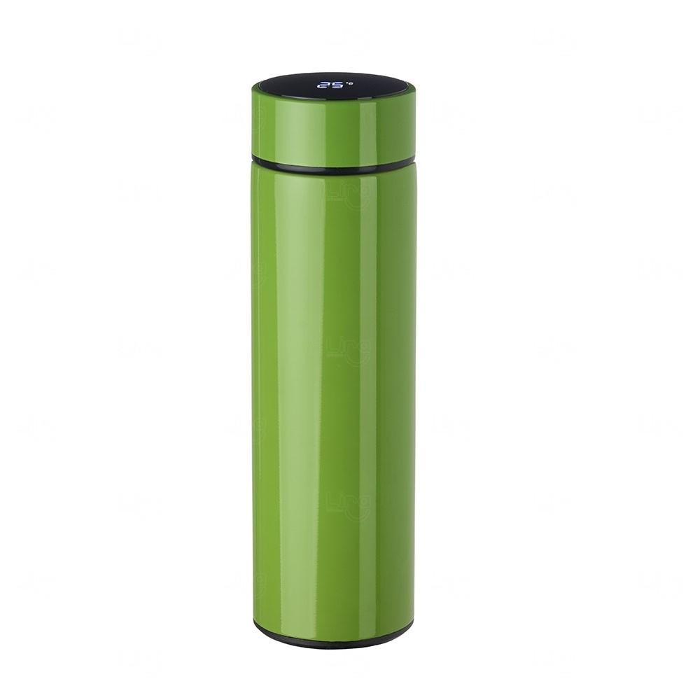 Garrafa Personalizada de Inox 450 ml com Display LED Verde