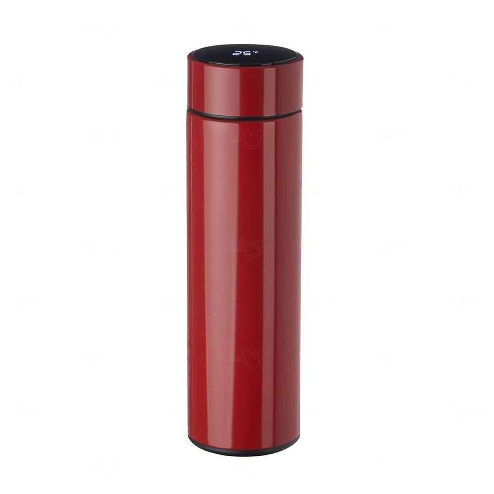 Garrafa Personalizada de Inox 450 ml com Display LED Vermelho