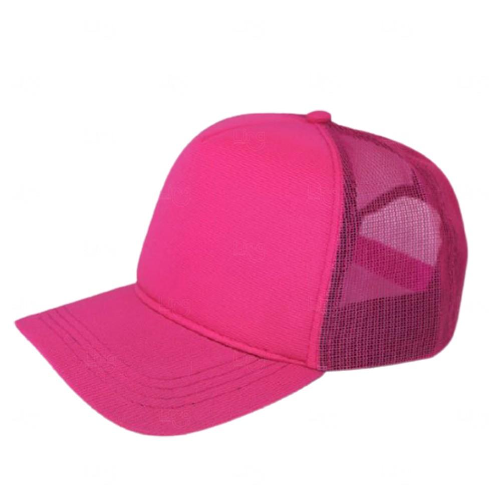 Boné Trucker Personalizado uma Cor Rosa Pink