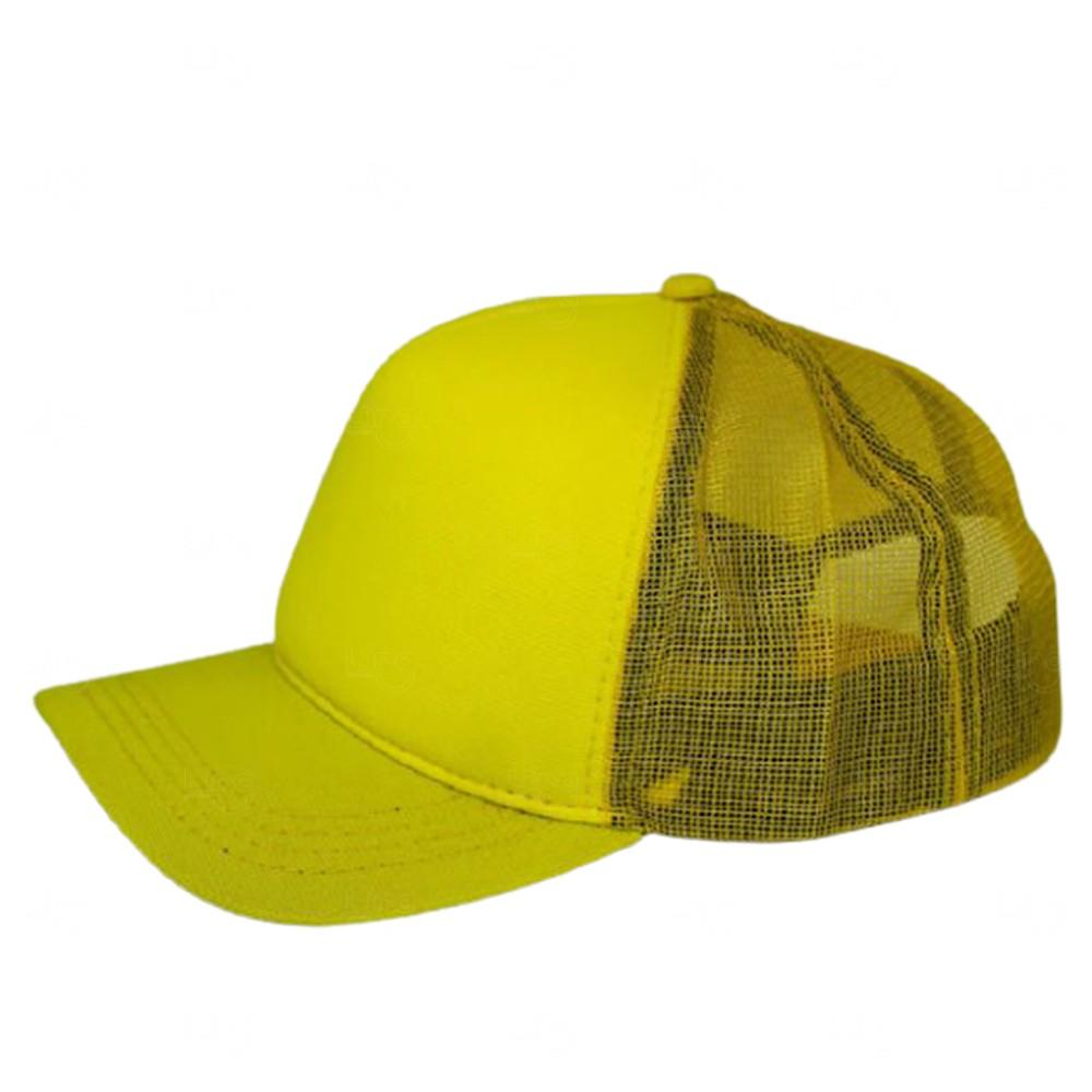 Boné Trucker Personalizado uma Cor Amarelo