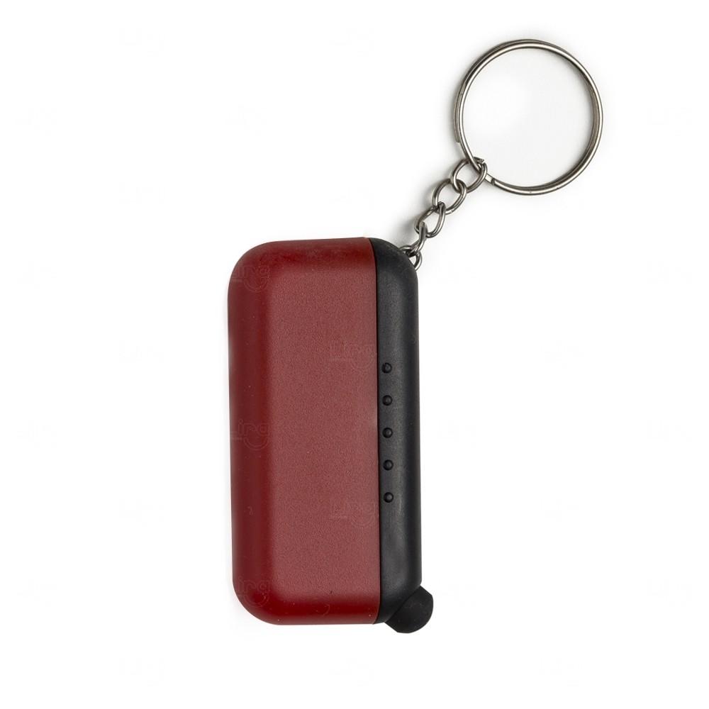 Chaveiro Personalizado Plástico Limpador e Touch Vermelho