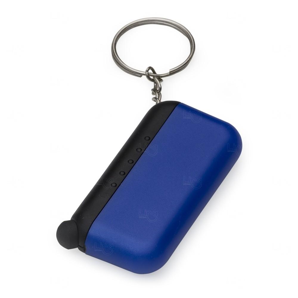 Chaveiro Personalizado Plástico Limpador e Touch Azul