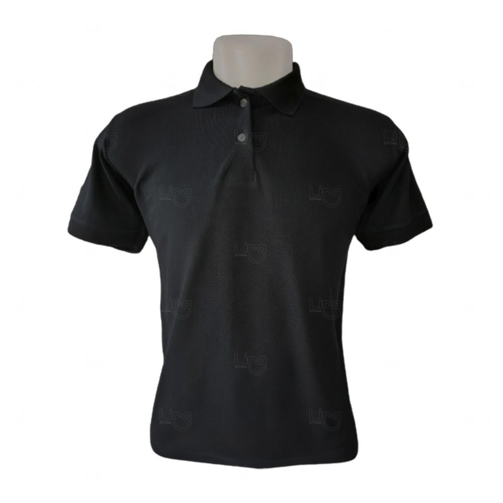 Camiseta Pólo Personalizada Masculina Preto