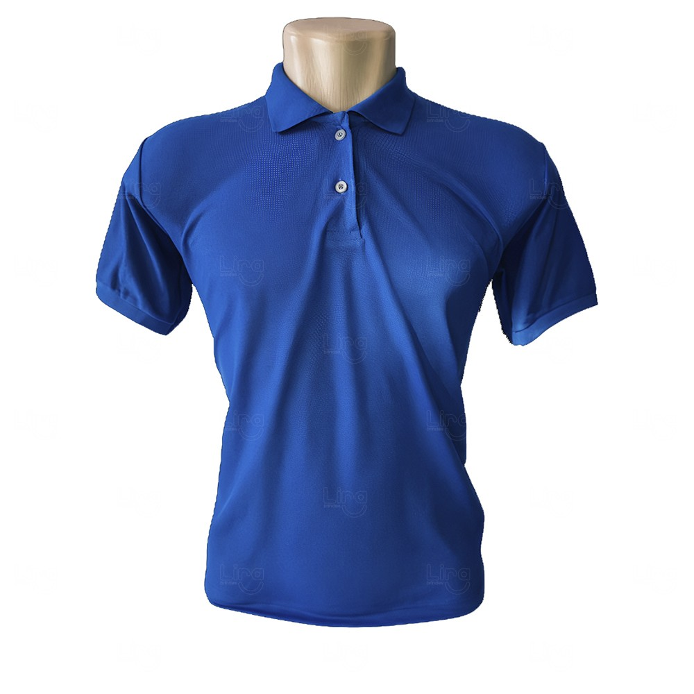 Camiseta Pólo Personalizada Masculina Azul