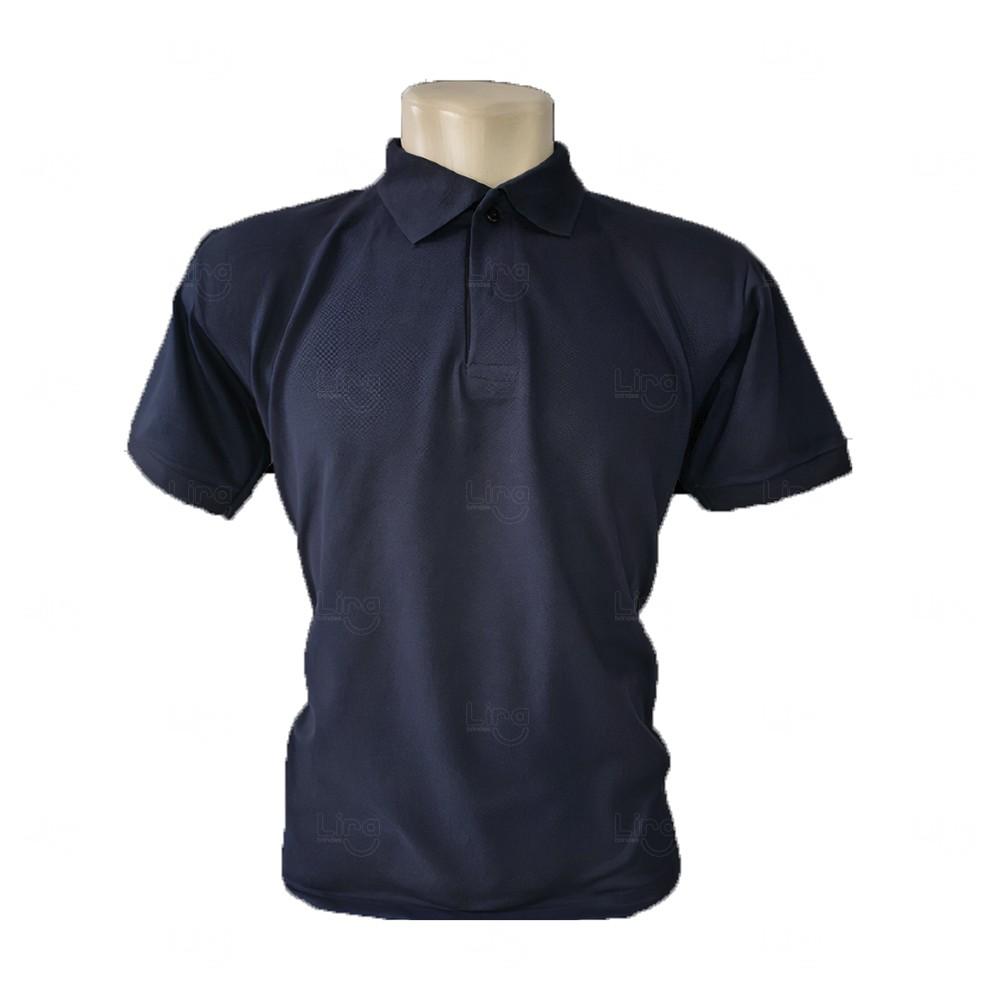 Camiseta Pólo Personalizada Masculina Azul Marinho