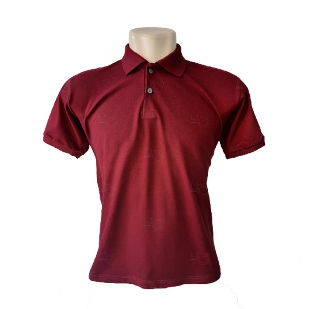 Camiseta Pólo Personalizada Masculina Vinho