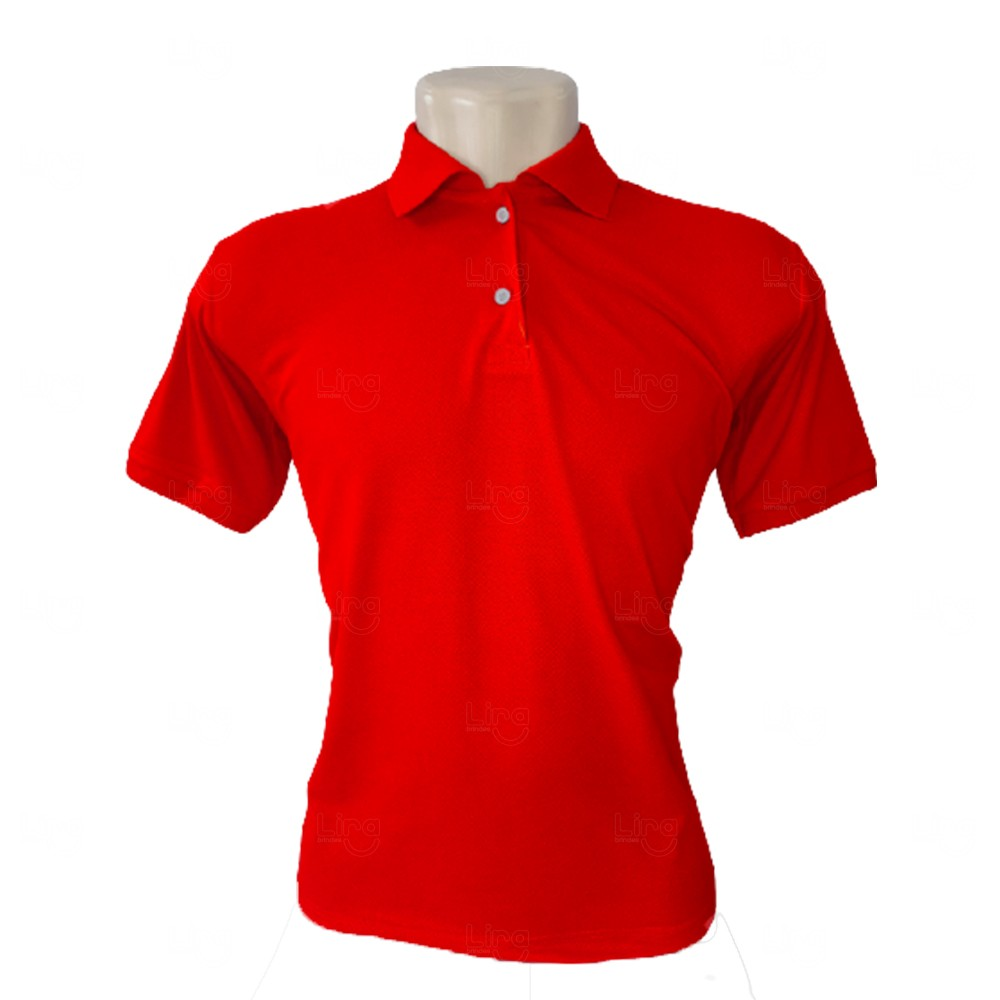 Camiseta Pólo Personalizada Masculina Vermelho