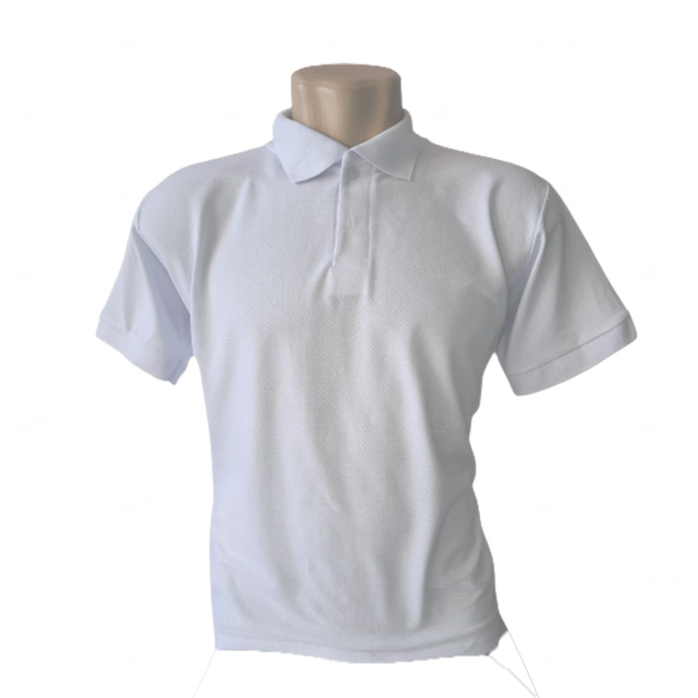 Camiseta Pólo Personalizada Masculina Branco