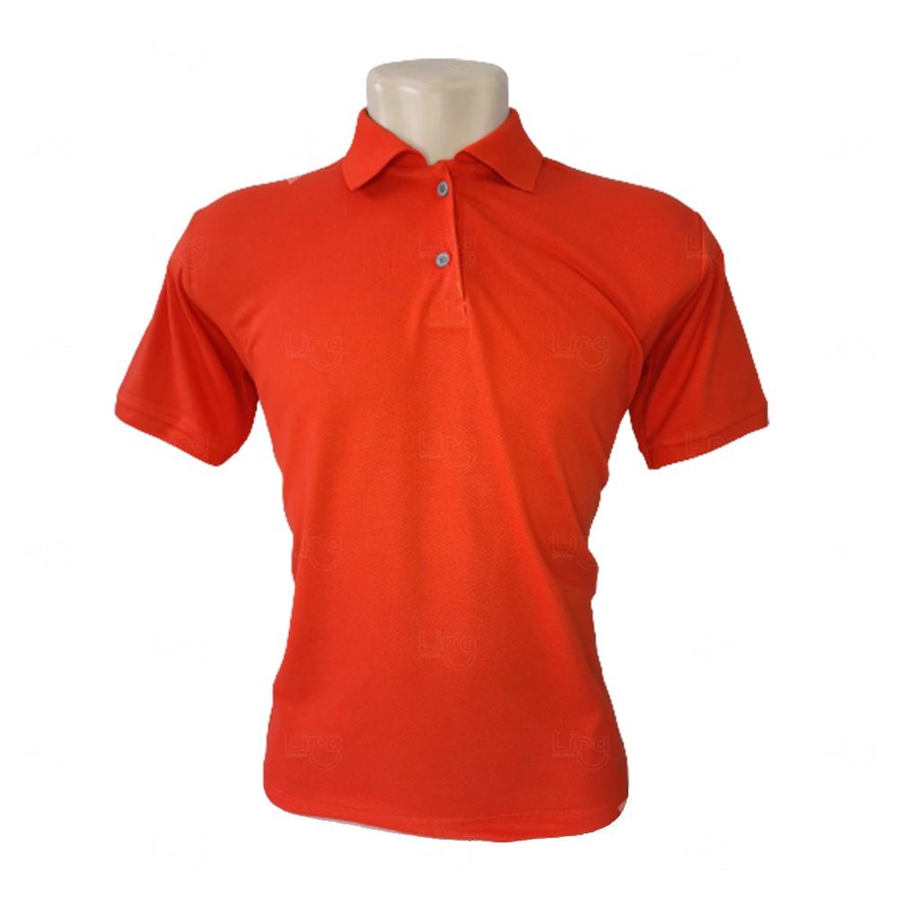 Camiseta Pólo Personalizada Masculina Laranja